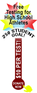 Donate now! 250 Student Goal. Just $10 per test kit!